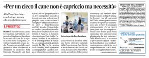 L'articolo pubblicato dal Corriere Adriatico di Pesaro