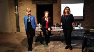 Le relatrici Alina Pulcini, Maria Luisa Gargiulo ed Emanuela Storani