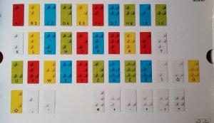 L'alfabeto Braille riportato sui mattoncini dei Lego Bricks