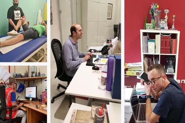Collage di 4 immagini dei ragazzi protagonisti dei tirocini. Da sinistra: Jozeph Bludzin, Mirco Loretoni, Michael Pellegrino e Damaso Di Emidio